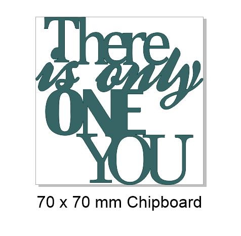 there is only one you 100x100mm  Pack of 5  Memorymaze